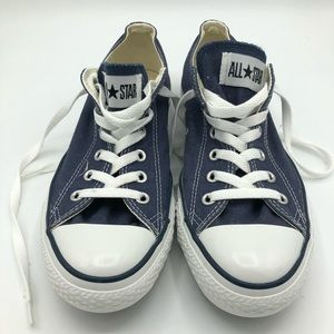 Converse Shoes - Navy Converse Classic Low Top Lace Up-Unisex-Navy